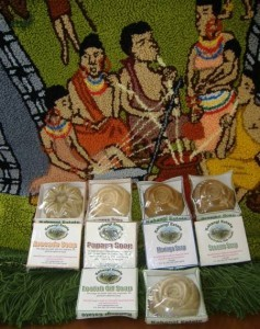 Kahangi Estate Natural Soaps Packaged in Card or Bark Cloth